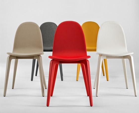 chaises bliss tapissees laquees couleur par 6