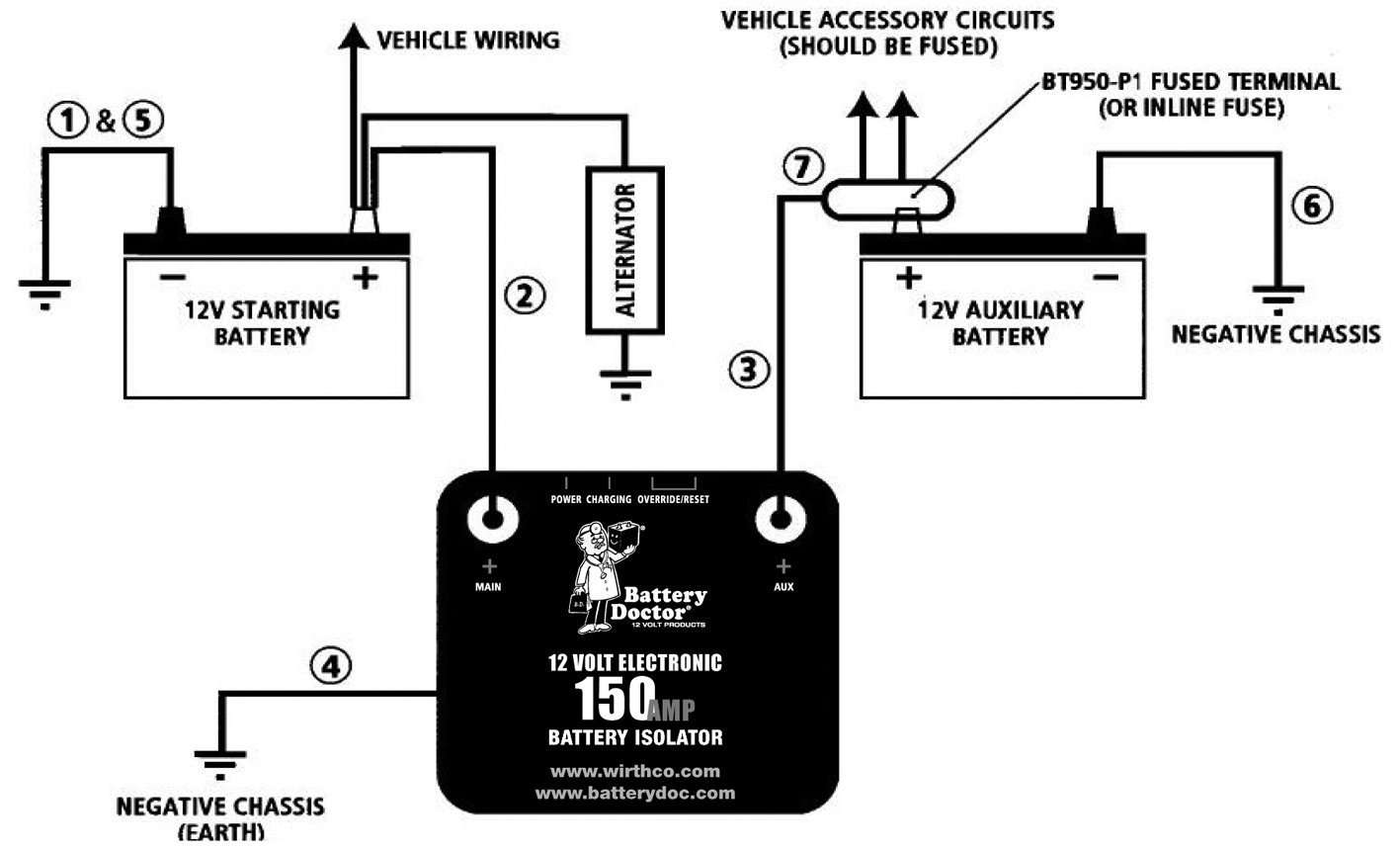 rv dual battery switch wiring diagram ct70 k1 installing a charged by the alternator in