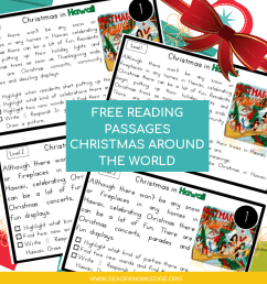 Reading Comprehension Passages Christmas Around the World Hands-on Levelled  Task Cards! [ 1080 x 1080 Pixel ]