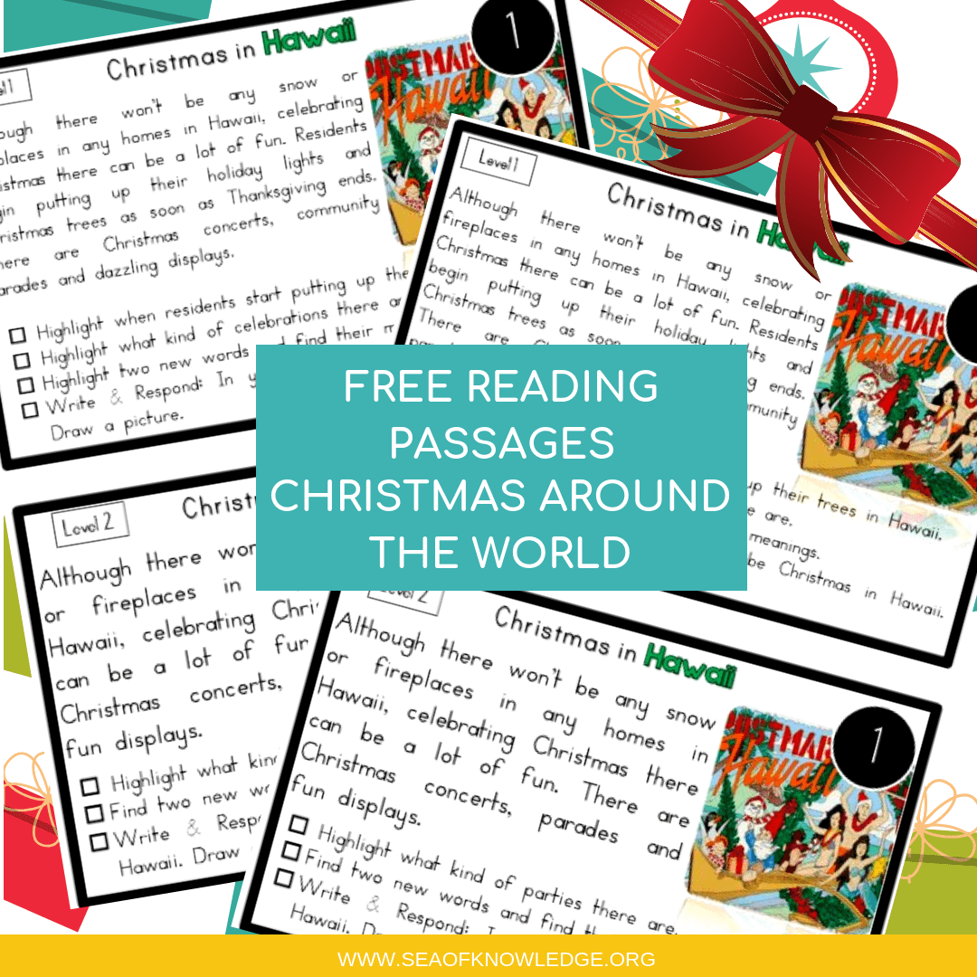 hight resolution of Reading Comprehension Passages Christmas Around the World Hands-on Levelled  Task Cards!