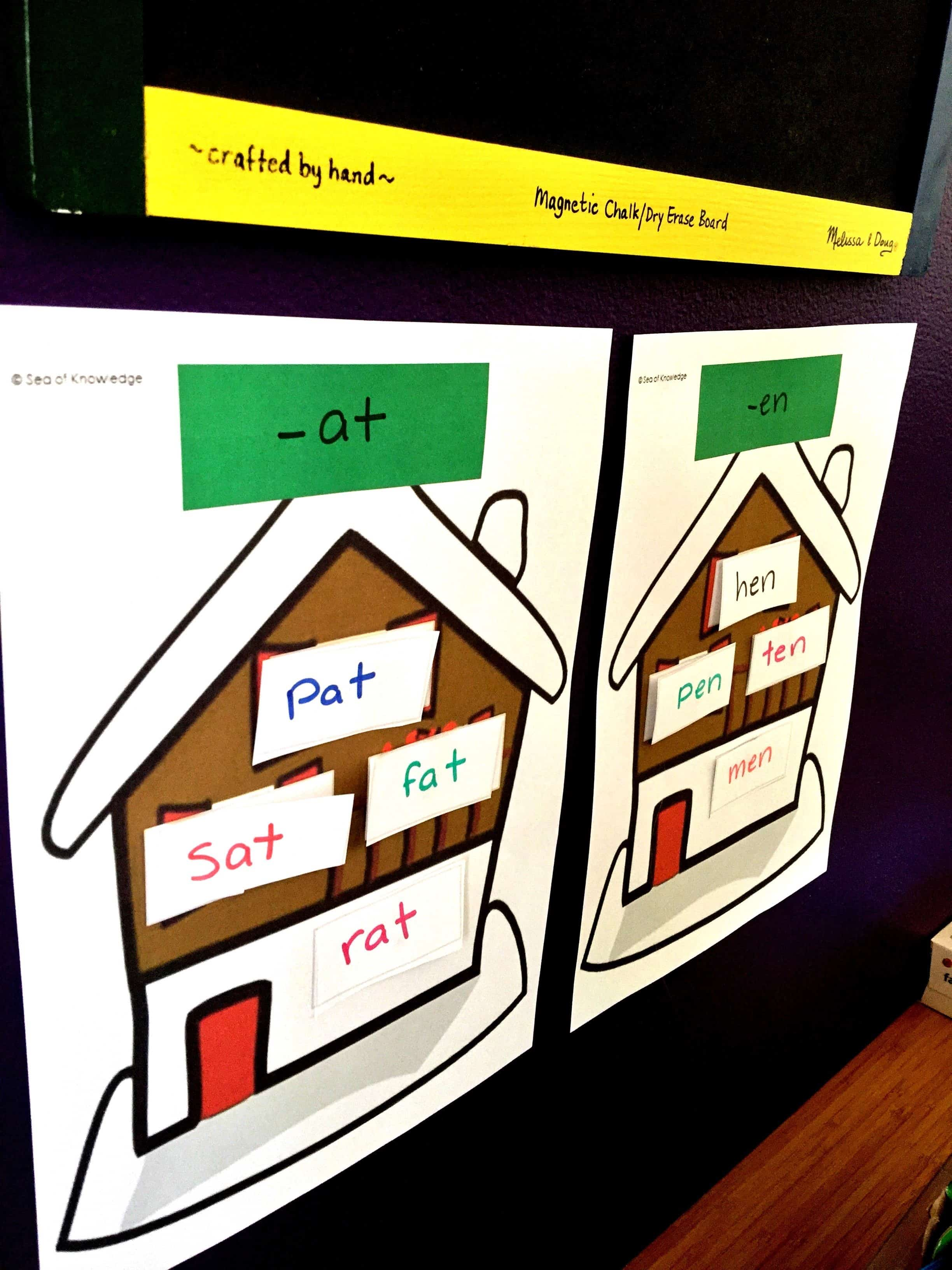 Sorting Word Families In Houses Easy Prep Free Mat