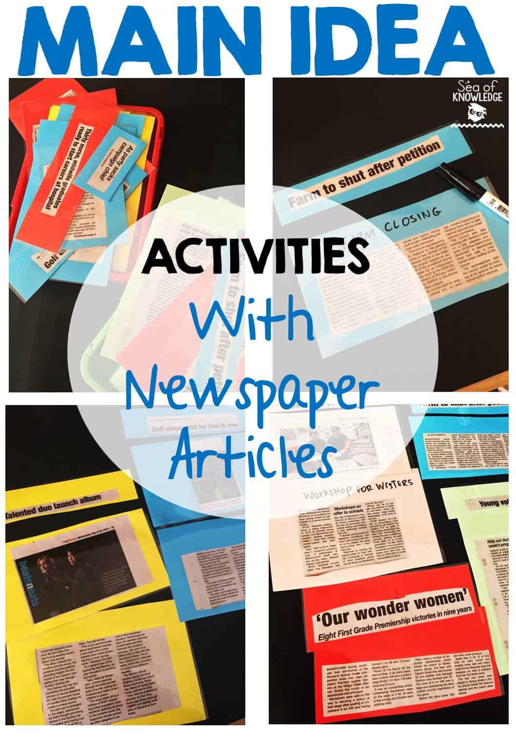 Main Idea Activities And Vocabulary Teaching Idea
