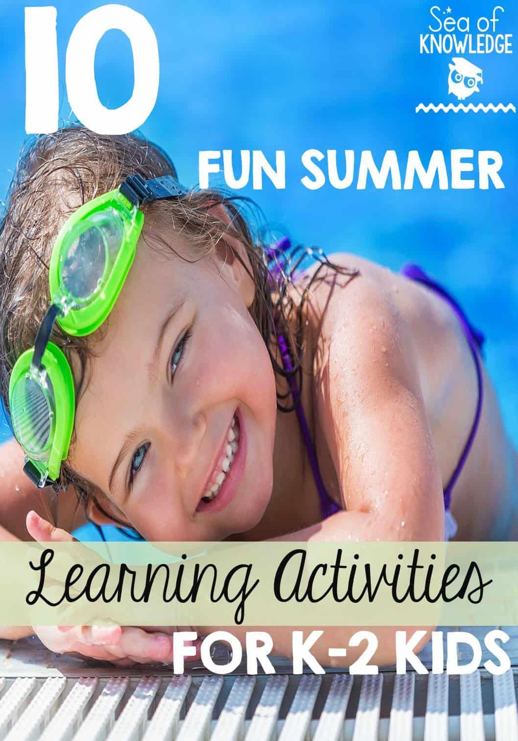 Summer Learning Activities For School Kids In K 2
