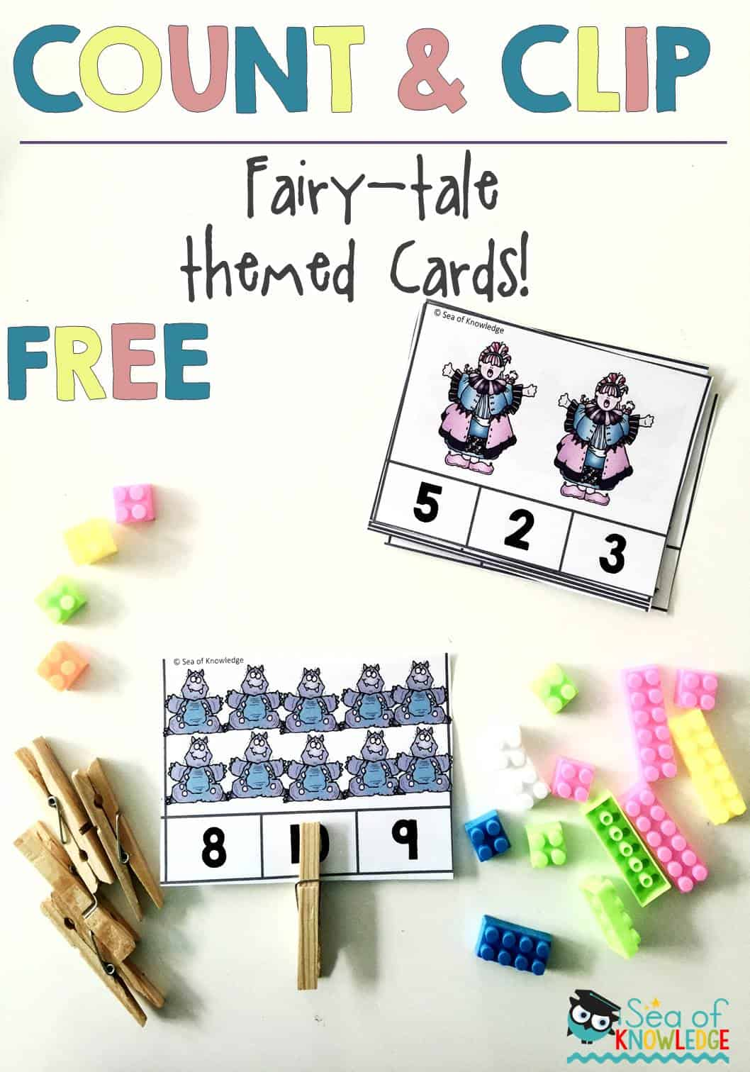 Numbers To Ten Count And Clip Cards Fairytale Theme
