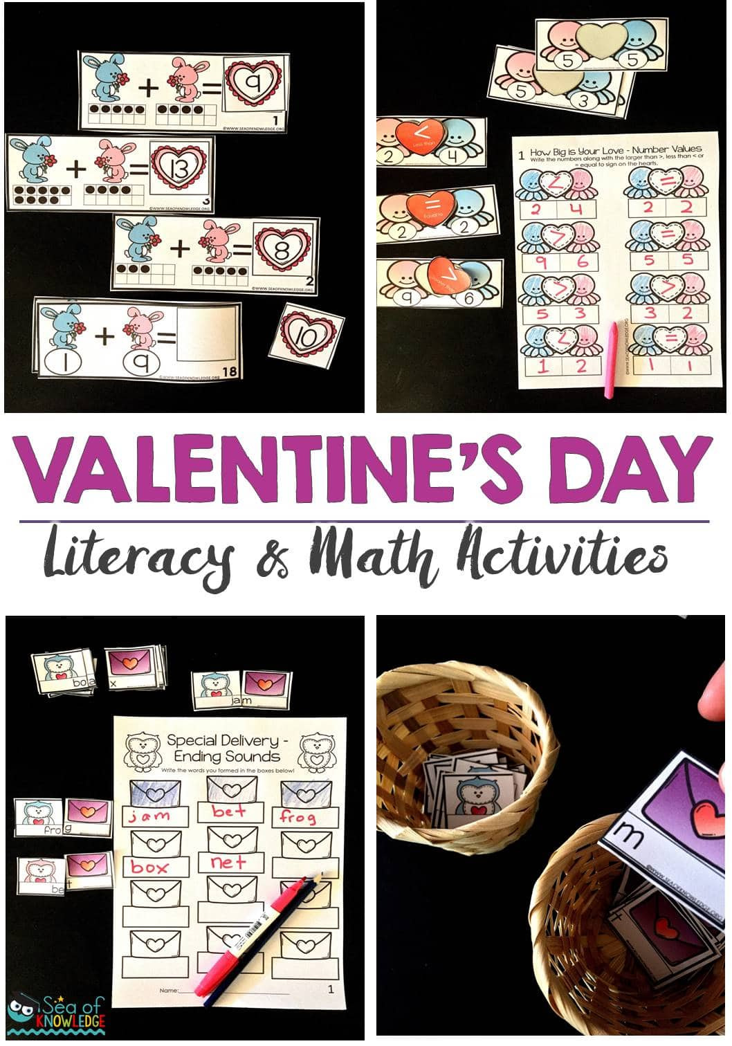 hight resolution of Ending Sounds Scrambled Sentences Valentines Day Activities - Sea of  Knowledge