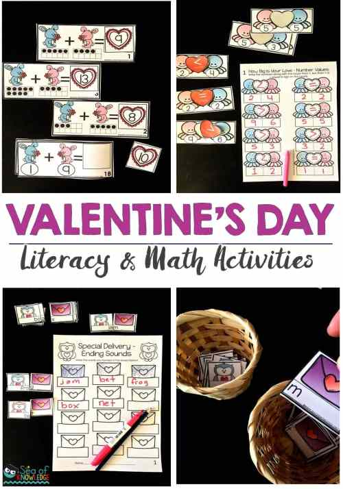 small resolution of Ending Sounds Scrambled Sentences Valentines Day Activities - Sea of  Knowledge