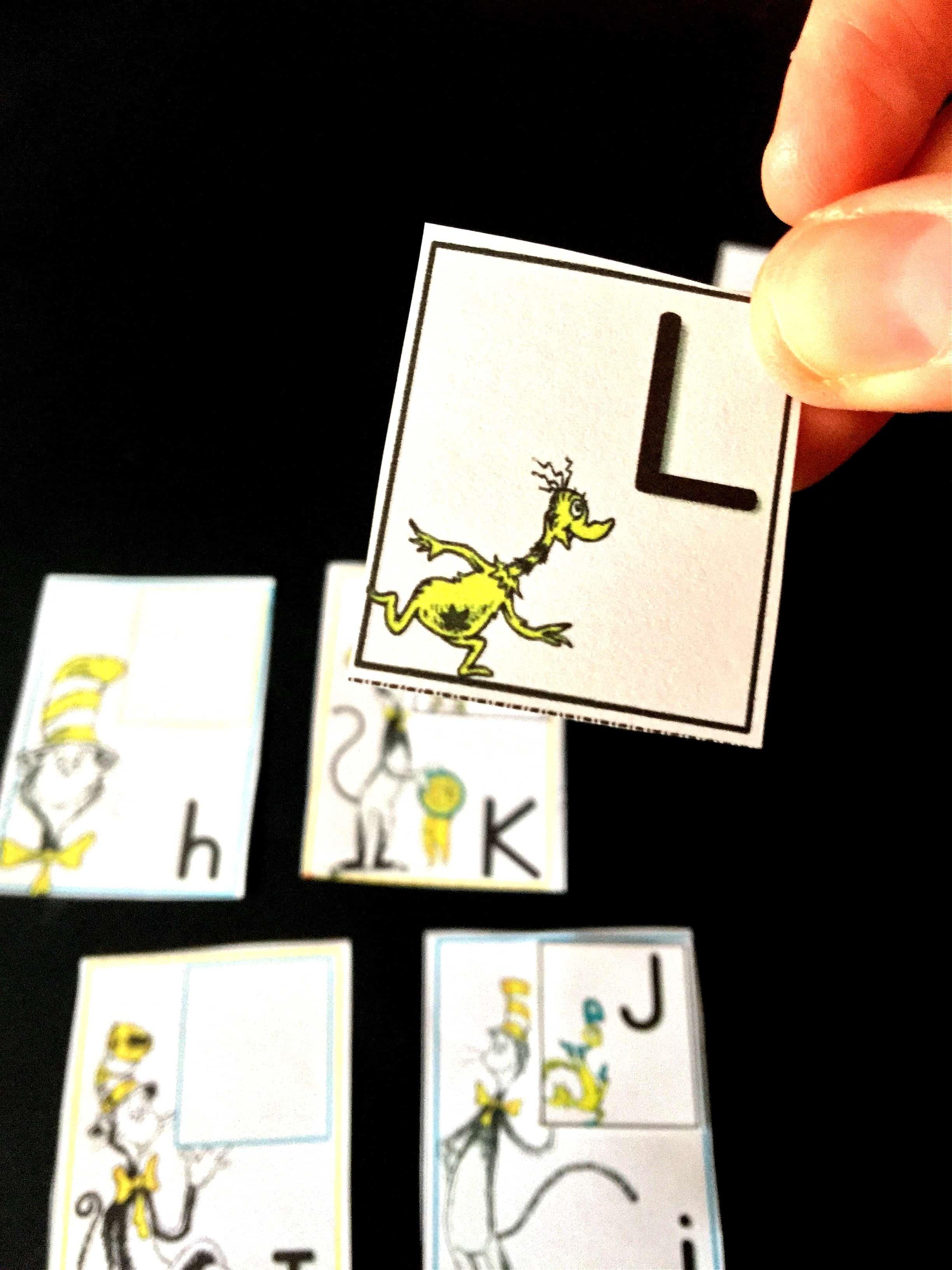 Dr Seuss Alphabet Match Free