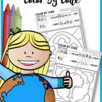 Sight Word Earth Day Color by Code