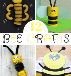12 Bee Crafts and a Fun Free Printable - Sea of Knowledge [ 1200 x 800 Pixel ]