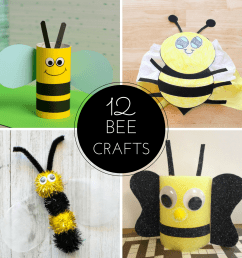 12 Bee Crafts and a Fun Free Printable - Sea of Knowledge [ 1080 x 1080 Pixel ]