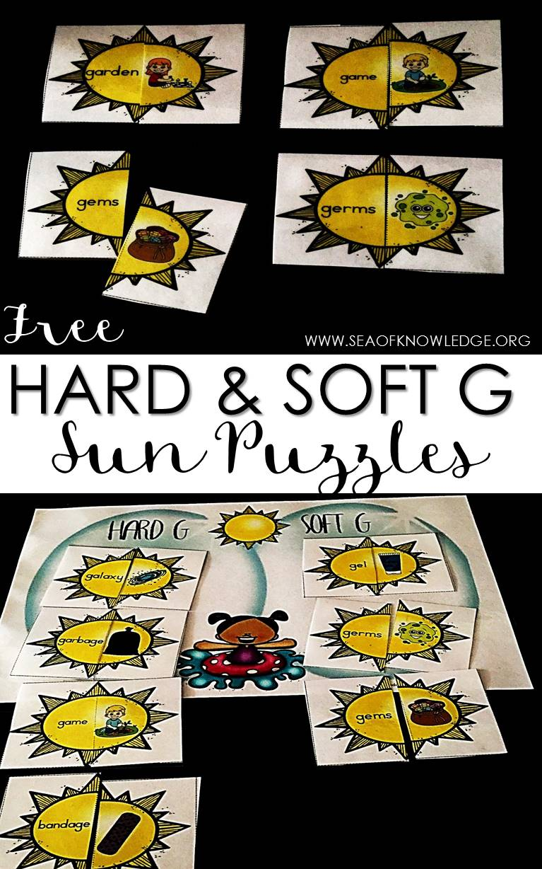 hight resolution of Hard and Soft G Sound Sort Sun Puzzles - Sea of Knowledge