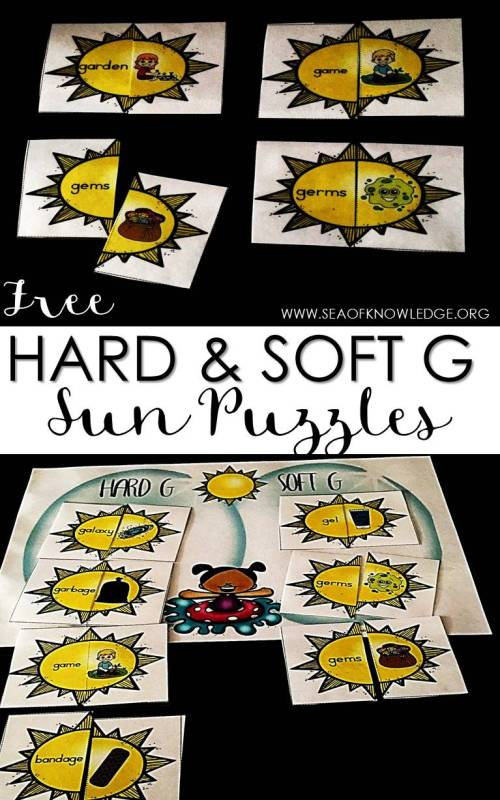 small resolution of Hard and Soft G Sound Sort Sun Puzzles - Sea of Knowledge