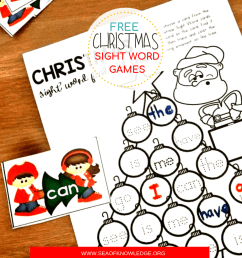 Free Printable Christmas Sight Word Games Your Kids will Fight Over! [ 1080 x 1080 Pixel ]