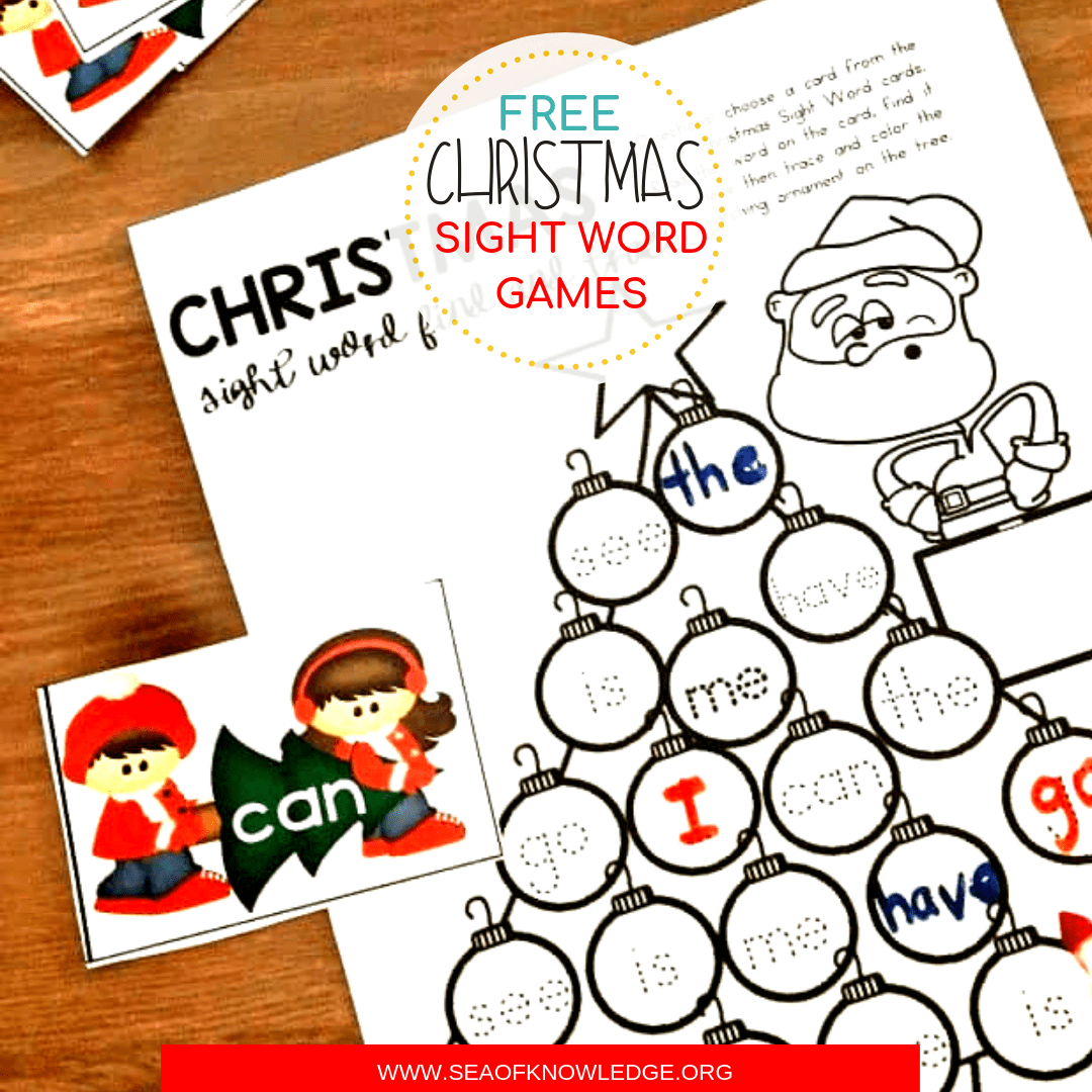 hight resolution of Free Printable Christmas Sight Word Games Your Kids will Fight Over!
