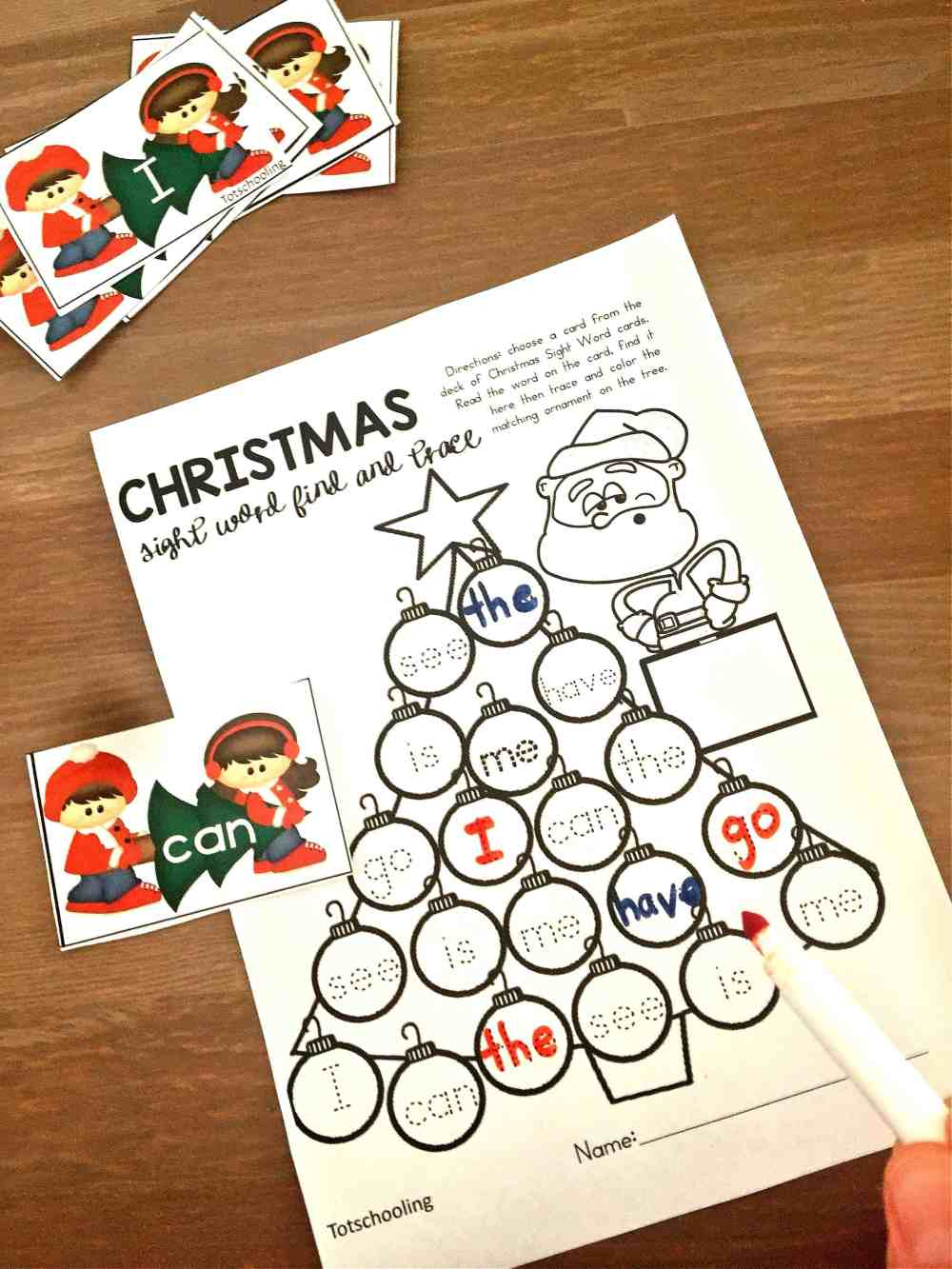 medium resolution of Free Printable Christmas Sight Word Games Your Kids will Fight Over!