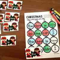 Free Printable Christmas Sight Word Games