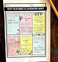 Nonfiction Text Features Worksheets Free - Sea of Knowledge [ 3264 x 2448 Pixel ]