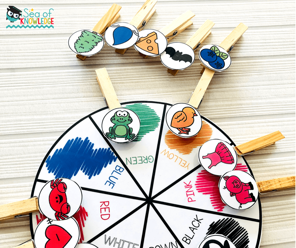 Fine Motor Activities 4 Year Olds Colour Match And Clip Wheel Sea Of Knowledge