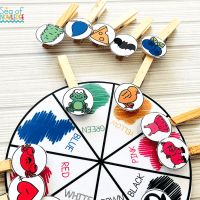 Fine Motor Activities 4 Year Olds - Colour Match and Clip Wheel