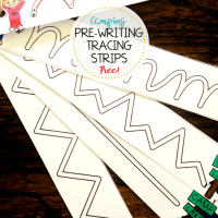 How to Improve Fine Motor Skills - Camping Tracing Strips