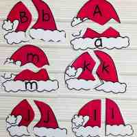 Santa Alphabet Matching Cards with a Twist! Free Download!