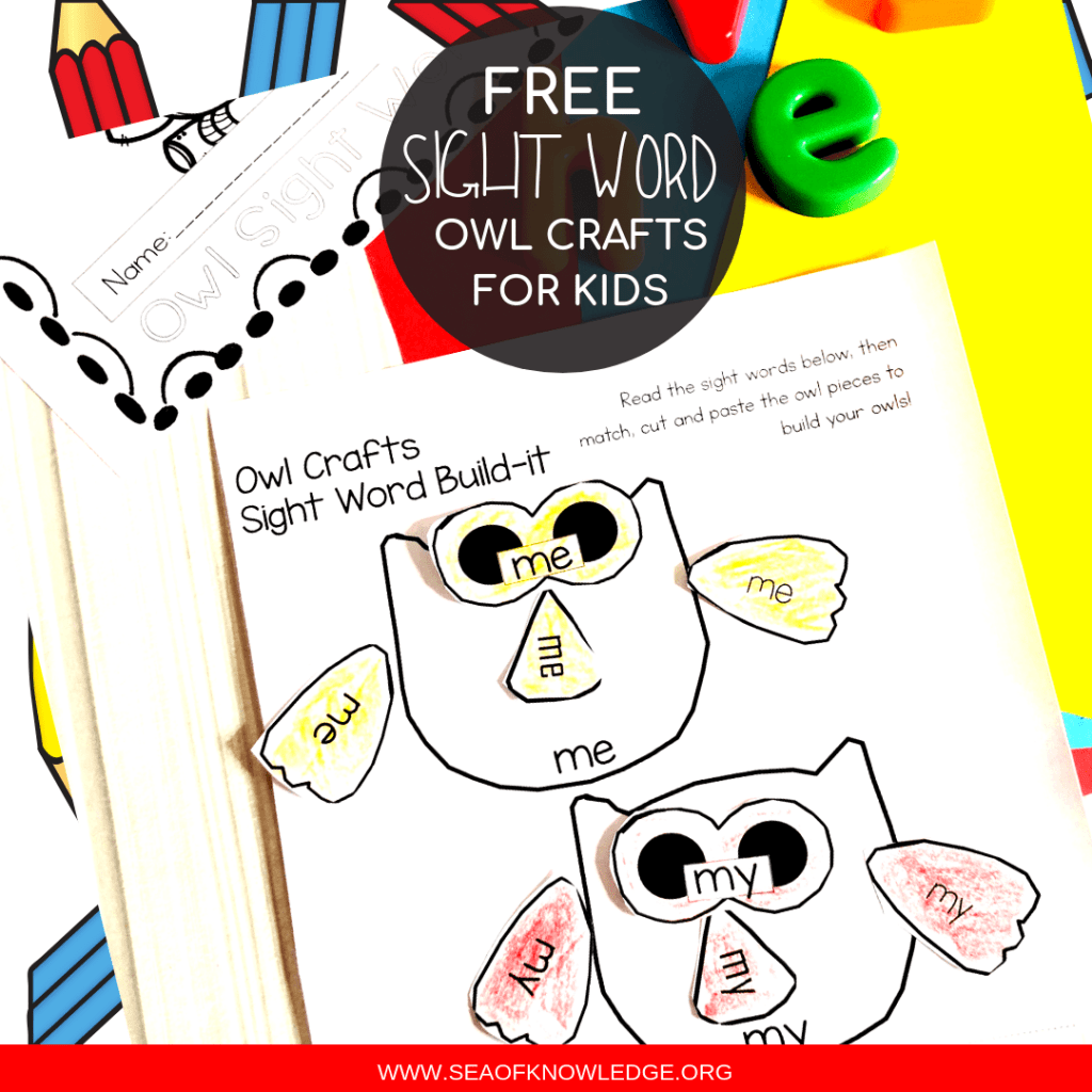 Owl Free Sight Word Worksheets Archives