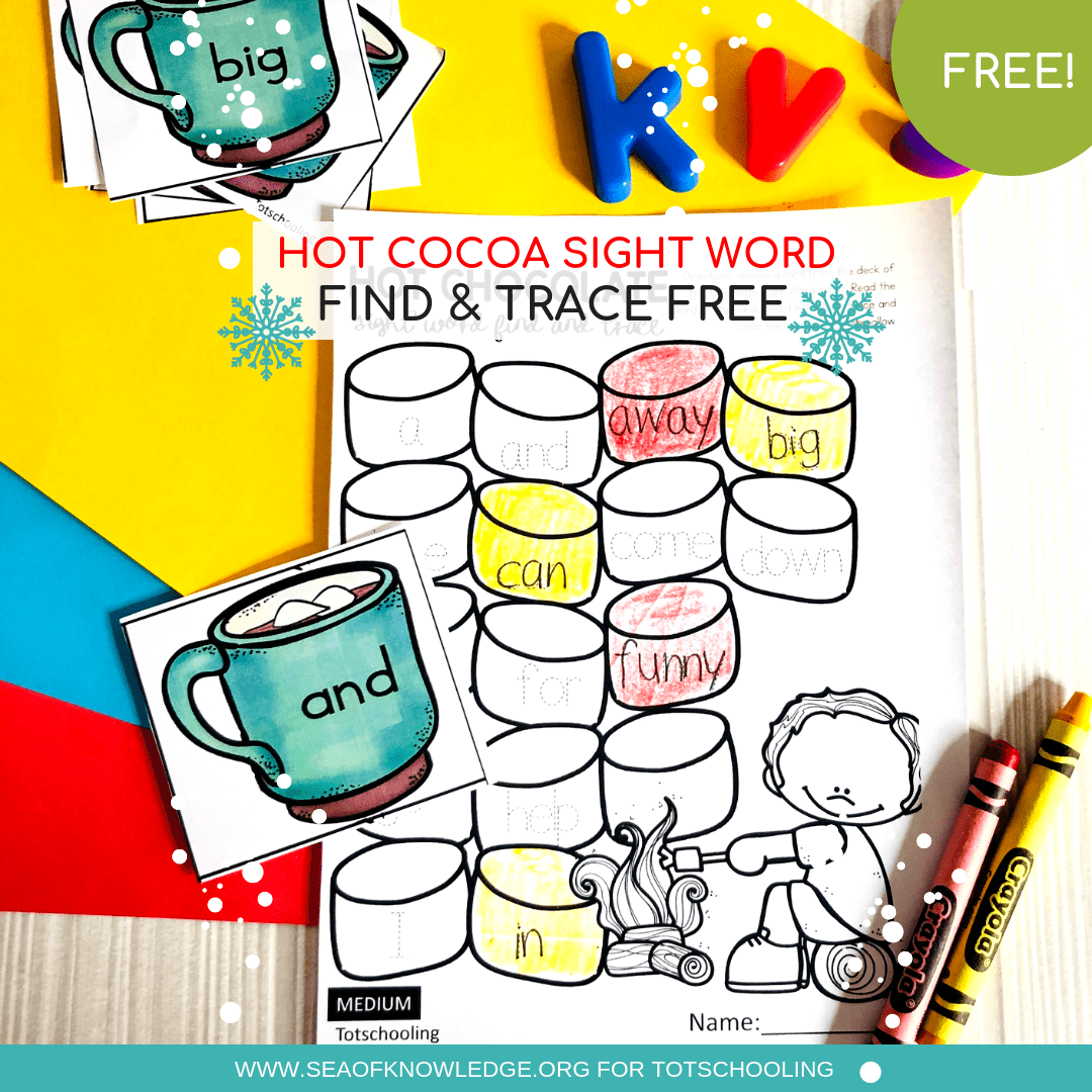 Winter Free Sight Word Worksheets