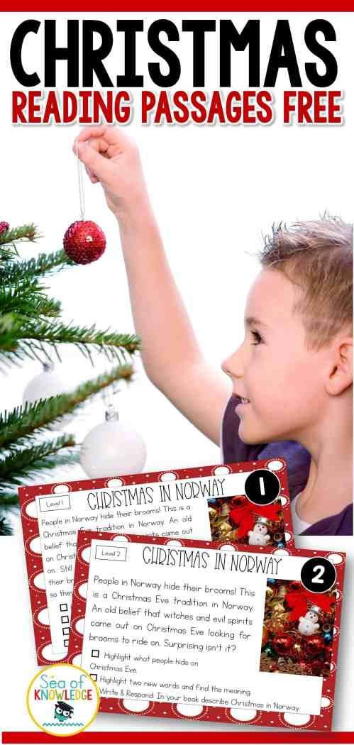 small resolution of Reading Comprehension Passages Christmas Around the World Hands-on Levelled  Task Cards!