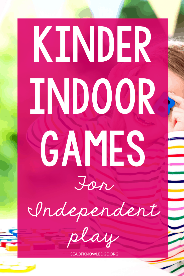 Independent Kinder Indoor Games that Kids Can Lead on Their Own (minimal work for teachers)