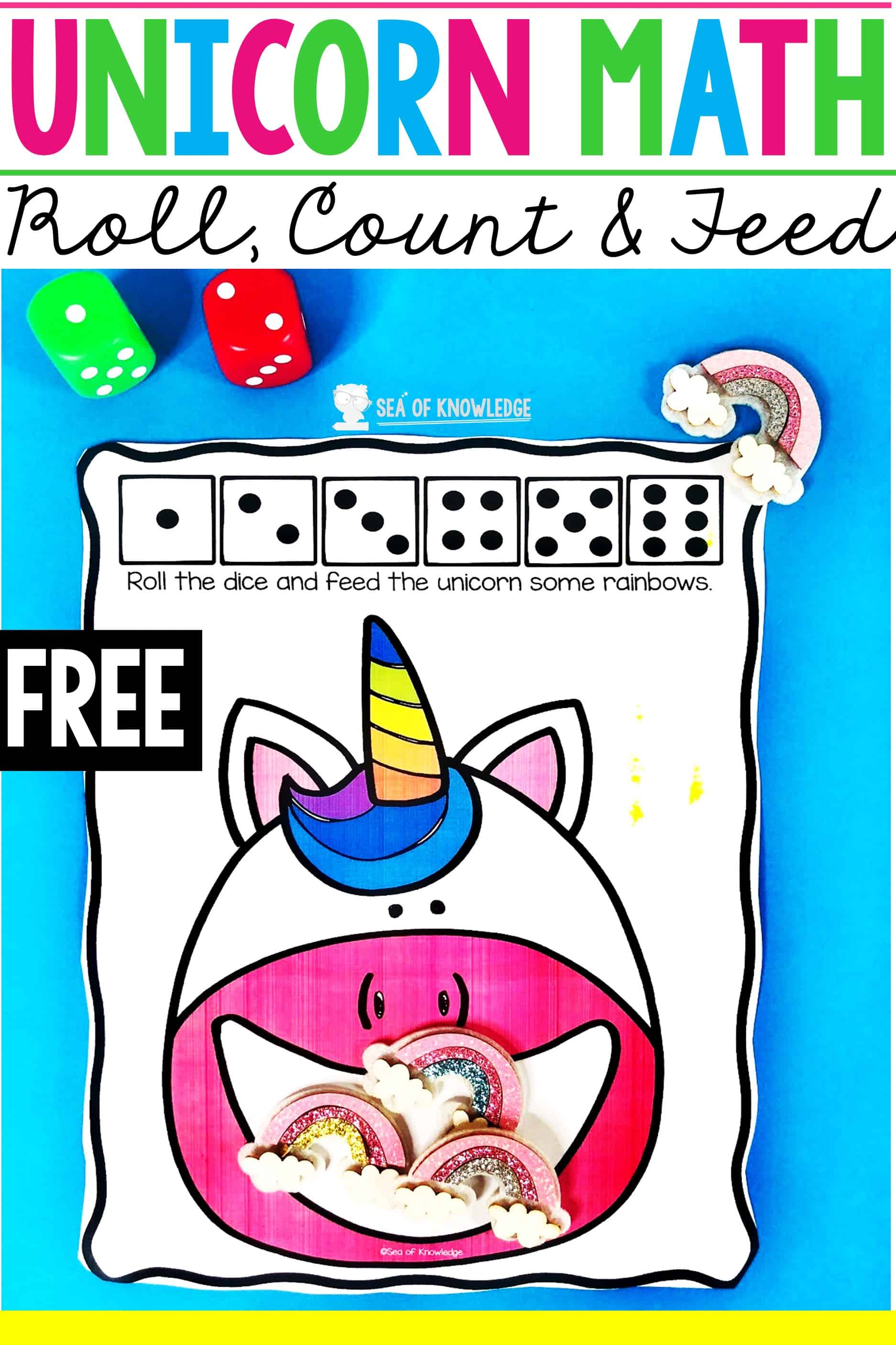 Unicorn Mat Preschool Math Activities Super Simple And Fun