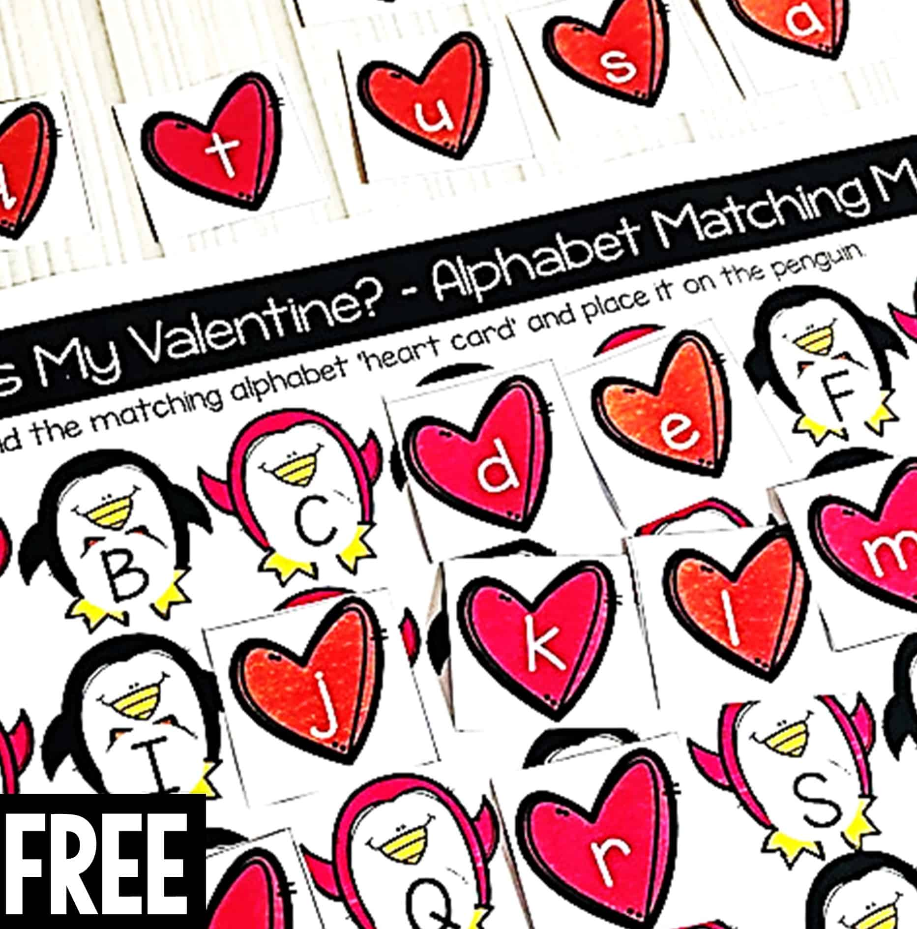 Teach Alphabet Recognition Easily With These Valentine
