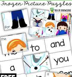 Ice Princess Frozen Sight Word Worksheet Puzzles - Sea of Knowledge [ 2560 x 1706 Pixel ]