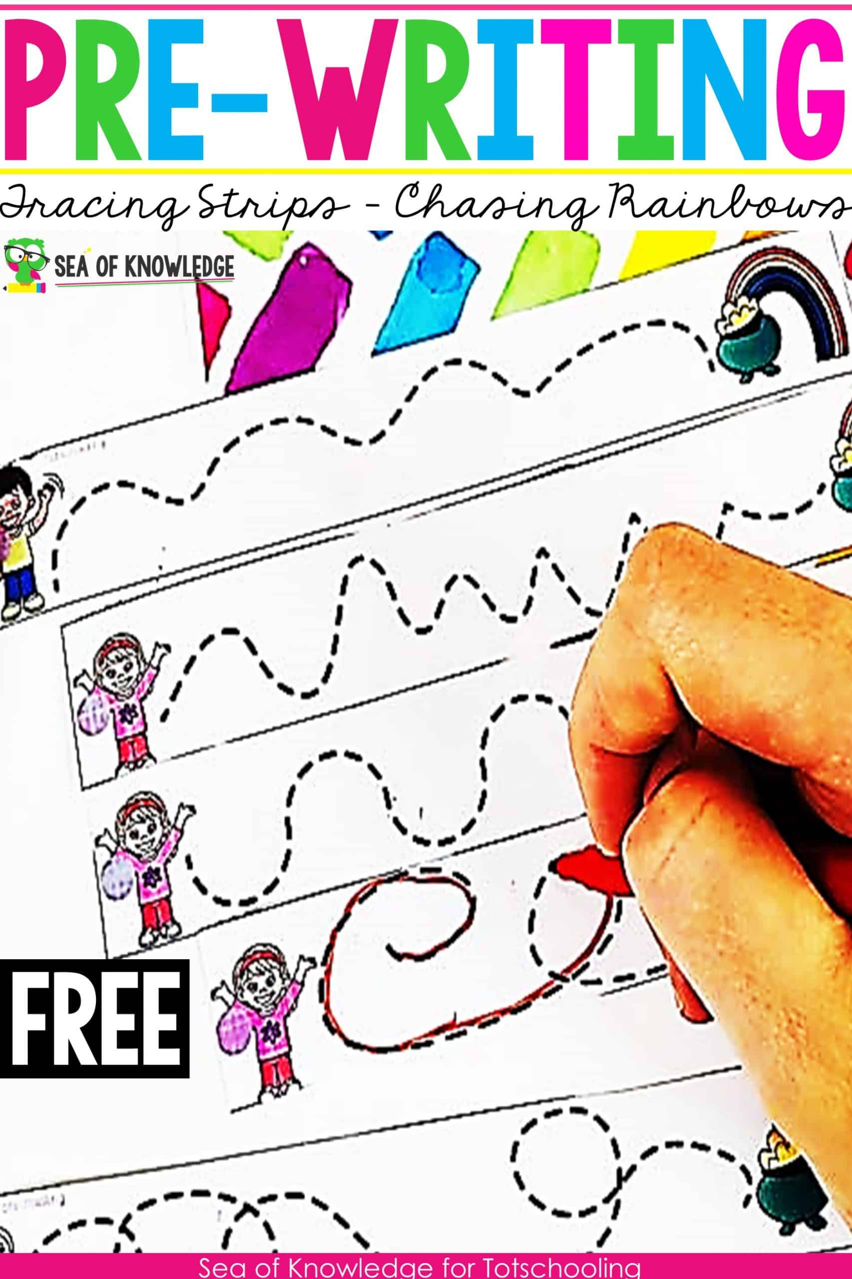 Chasing Rainbows Pre Writing Activities For Preschoolers