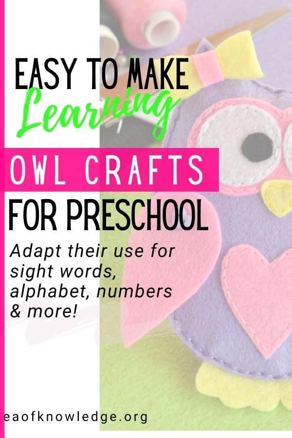 7 Easy Owl Crafts for Teachers, It's like Starbucks except for Preschoolers!
