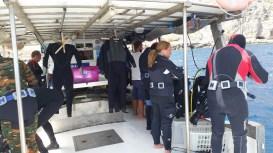 """La barca """"Il Merendero"""" del Diving Blutek"""