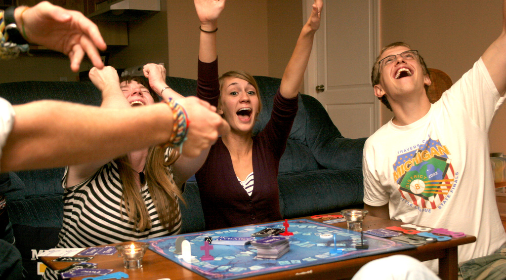 playing board games, game night, Seaport Games