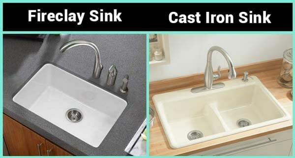 fireclay vs cast iron sink heat to