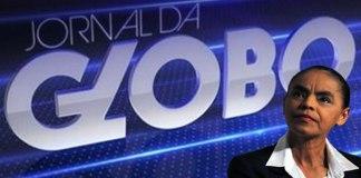 Marina Silva é entrevistada no Jornal da Globo