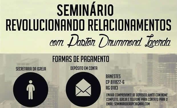 Assembleia de Deus Praia da Costa realizará seminário com pastor Drummond Lacerda - 2