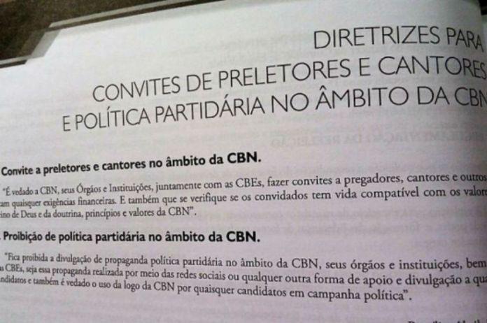 Convenção Batista Nacional veta cantores e pregadores que cobram cachê e políticos
