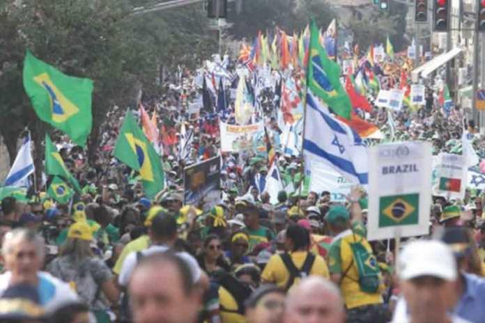 Mais de 5.000 cristãos marcham em Jerusalém celebrando a Festa de Sucot