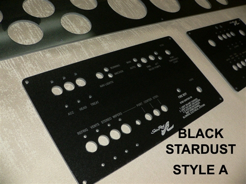Instrument gauge switch electronics blank panels for