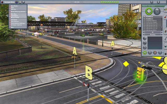 Trainz Simulator Cabon City Trams Drive 2 different Trams