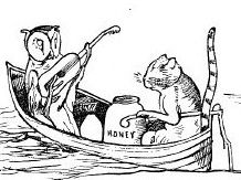 Owl and the Pussy Cat illustration by Edward Lear