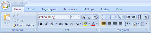 Word 2007 Ribbon