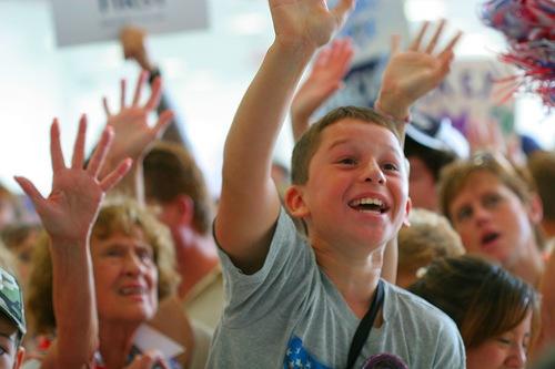 enthusiastic kids