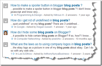 Yahoo Answers for Blog Ideas