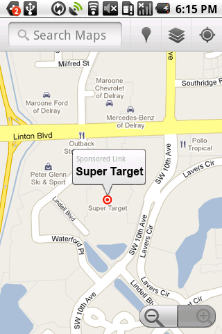 Google Maps Tests Sponsored Icons In US - Google maps us