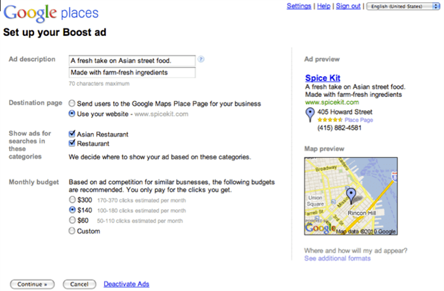 google boost signup