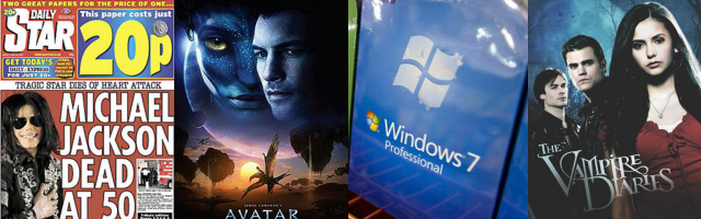 2009: Michael Jackson, Avatar, Windows 7, Vampire Diaries